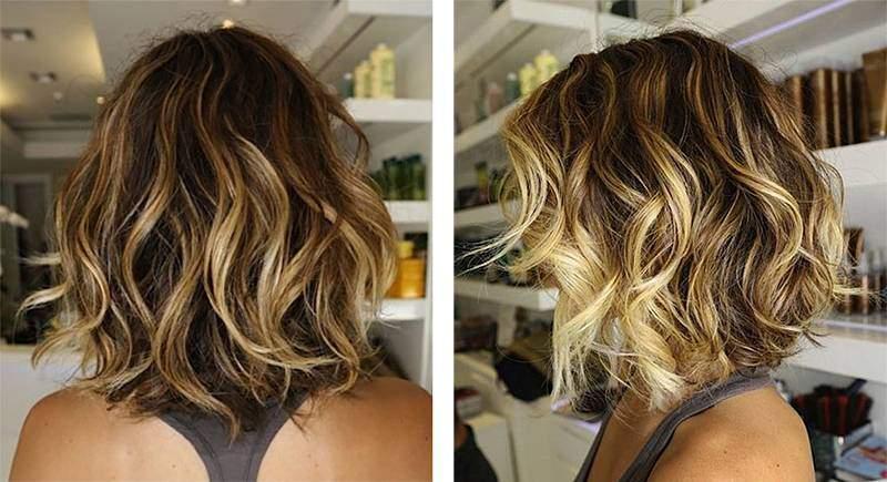 Как сделать балаяж на короткие волосы